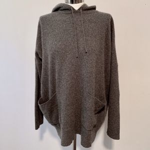 DKNY Hooded Pullover Tunic Sweater Wool/Cashmere